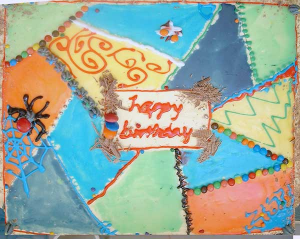 Crazy Quilt Birthday Cake