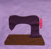 hand applique sewing machine in progress