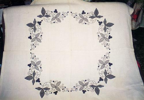 Black Work Tablecloth