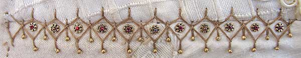 2 rows Cretan Stitch with Beads