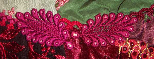 lace motif with beads