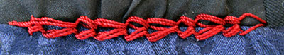 Portugese border stitch on a beret