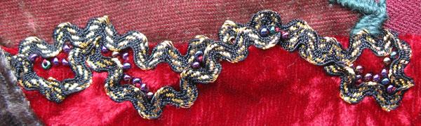 Ric Rac and beads