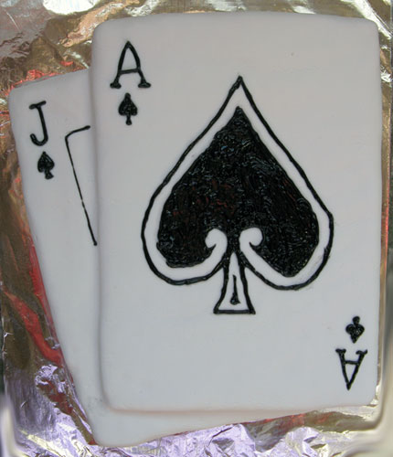 Jack and Ace of Spades Cake