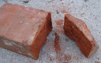 Brick split with a bolster