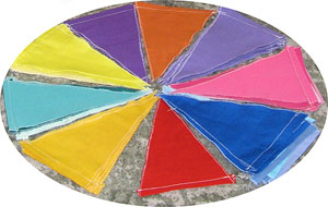 A colour pie of pennants