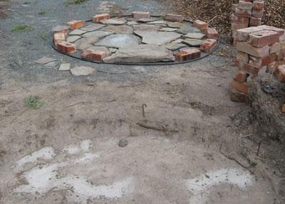 slate pavers ready for castle floor