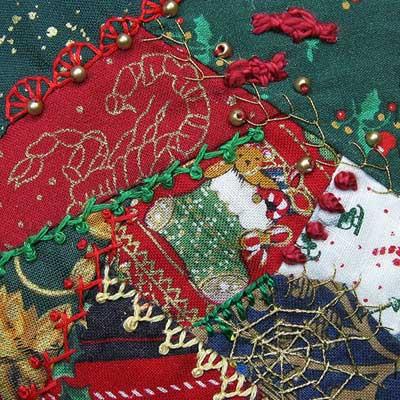 3 inch crazy Christmas square