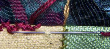 Herringbone/Palestrina Stitch Step 1