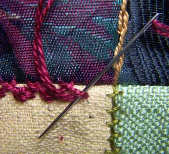 Herringbone/Palestrina Stitch Step 2