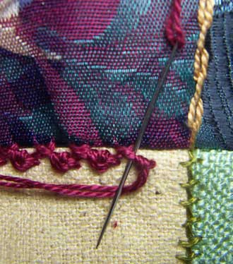 Herringbone/Palestrina Stitch Step 3