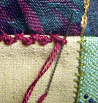 Herringbone/Palestrina Stitch Step 4
