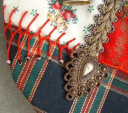 Cretan stitch and button