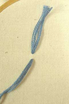 Tassel stitch step 1