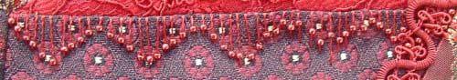 straight stitch with bead