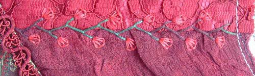 feather stitch with button hole
