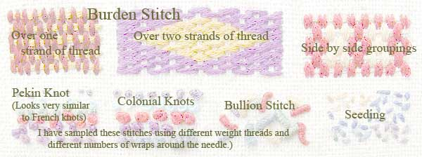 Stumpwork Sampler - strip 3 key