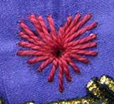 Algerian Eye Stitch Heart