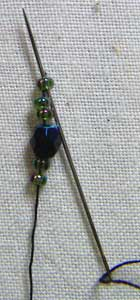 how to stitch hanging beads