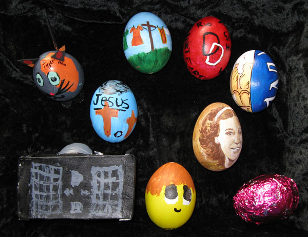 our 2008 painted easter eggs