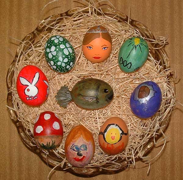 طريقه تلوين البيض بمناسبه النسيم