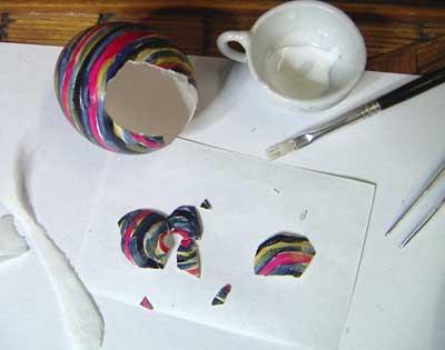 repairing broken egg