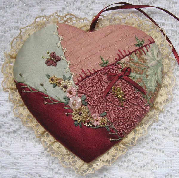 crazy quilted heart made 1997
