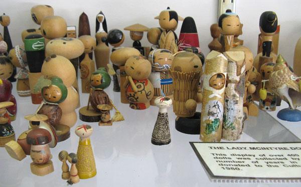 Japanese Dolls at Japanese garden at Cowra
