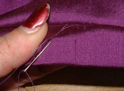 Stitch join in binding