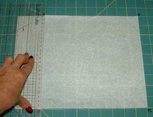 """cutting a 9\"""" paper square"""