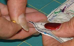 pinning first corner
