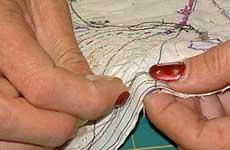 hand stitch gap in the seam