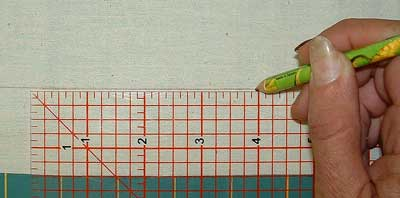 marking guide line onto lining