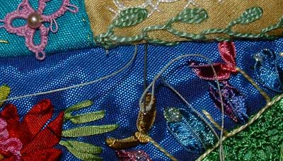 stitch in seam at an angle