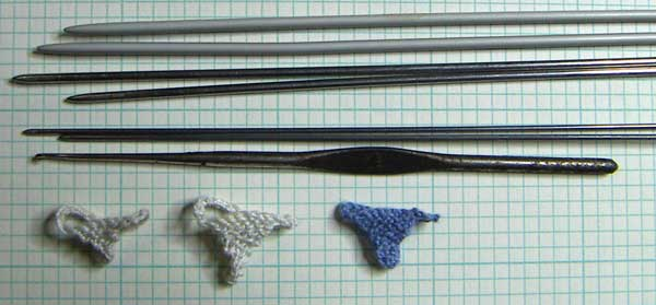 knitting needles for miniature knitting
