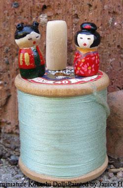 Miniature Kokeshi Dolls