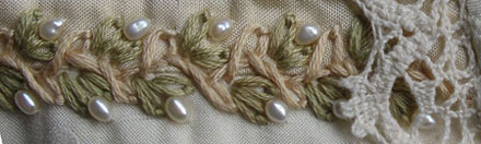 Twisted Chain Stitch and Detached Chain Stitch