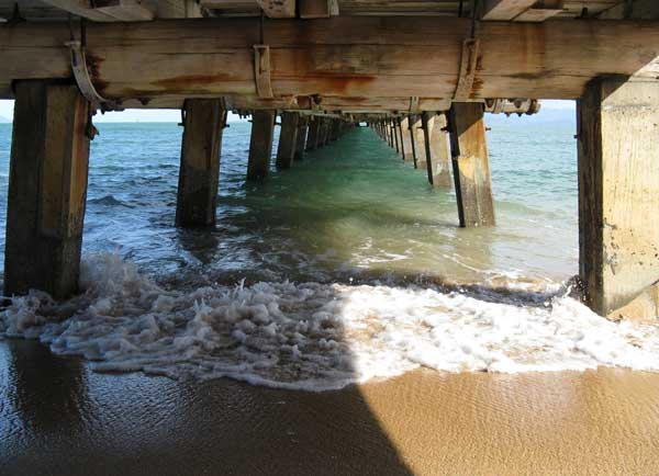 Under the pier at Picnic Bay