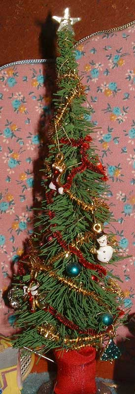Miniature Decorated christmas Tree