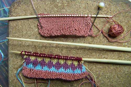 knitting for a knitting seam