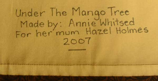 Name label on Under the Mango Tree