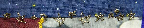 Straight stitch Stars