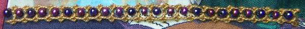 Palestrina Stitch with beads