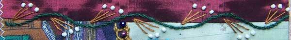 Stem Stitch, Straight Stitch and Beads