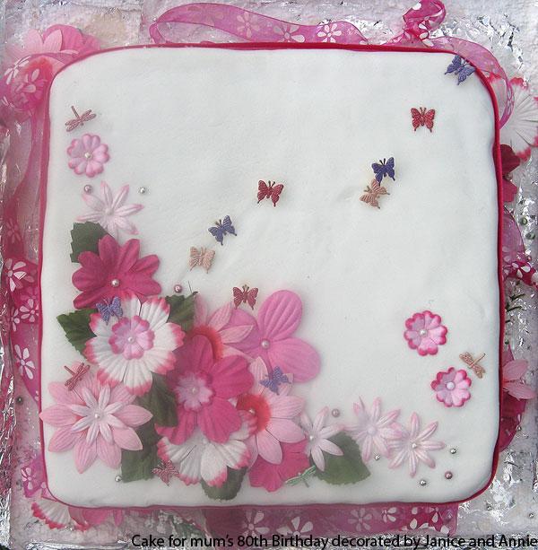 Mum\'s 80th Birthday Cake