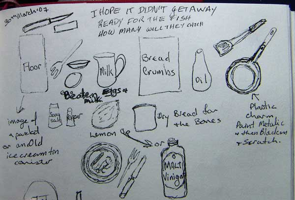 visual journal ideas for cooking fish