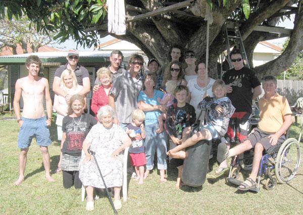 The family under the Mango Tree