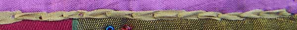 split stitch worked in silk ribbon