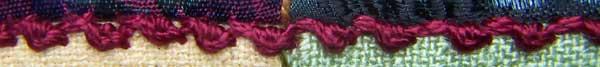 combination Herringbone and Palestrina Stitch