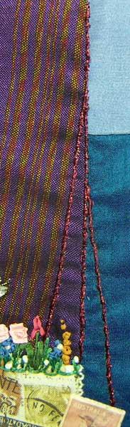 Stem stitch design from the fabric